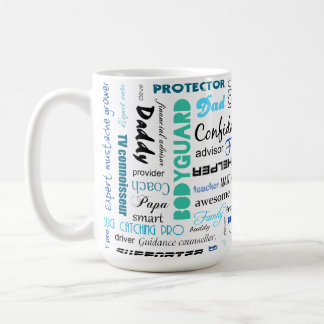 All the things a dad is to me typography coffee mug