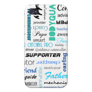 All the things a dad is to me typography iPhone 4 case