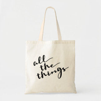All the things, Modern Script Tote Bag