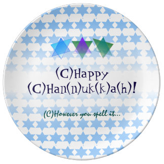 All the Ways to Spell Hanukkah Plate