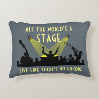 All the World's a Stage Accent Pillow