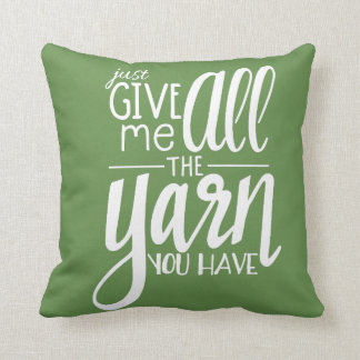 All the Yarn Throw Pillow