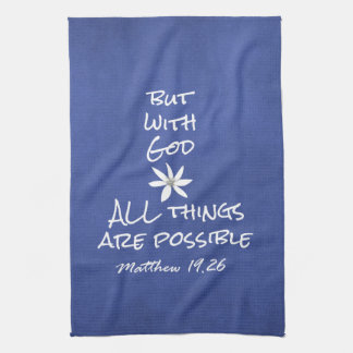 All things are Possible Bible Verse Kitchen Towel