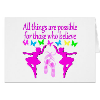 ALL THINGS ARE POSSIBLE DANCER DREAM CARD