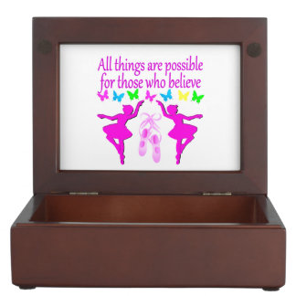 ALL THINGS ARE POSSIBLE DANCER DREAM KEEPSAKE BOXES