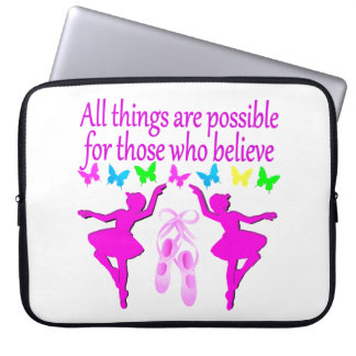 ALL THINGS ARE POSSIBLE DANCER DREAM LAPTOP COMPUTER SLEEVE
