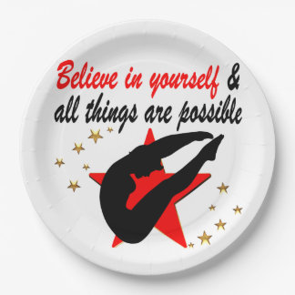 ALL THINGS ARE POSSIBLE FOR THIS DIVER DESIGN 9 INCH PAPER PLATE