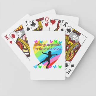 ALL THINGS ARE POSSIBLE FOR THIS SKATER PLAYING CARDS