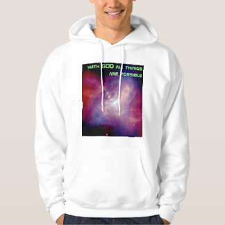 all things are possible mens hoodie