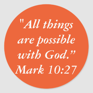 """""""All Things are Possible"""" Scripture Craft Sticker"""
