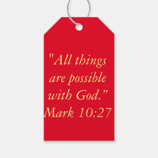 """""""All Things are Possible"""" Scripture Gift Tags Pack Of Gift Tags"""