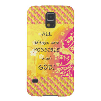 All things are possible with god. galaxy s5 cover