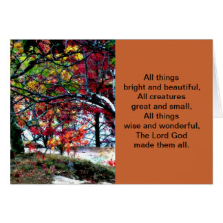 All Things Bright and Beautiful Card