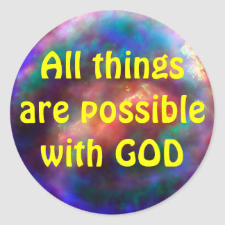 All things possible stickers