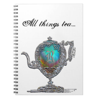 All things tea Monogram Notebook