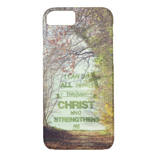 All Things through Christ Bible Verse iPhone 7 Case