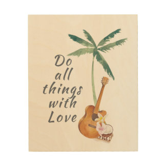 All Things With Love Tropical Wood Wall Art