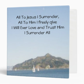 All To Jesus I Surrender Song Book Binder