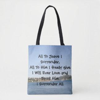All To Jesus I Surrender Tote Bag