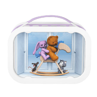 All together on the rocking horse lunchbox