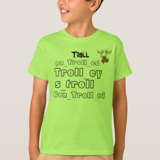 all troll words and iTrollArmy logo T-Shirt