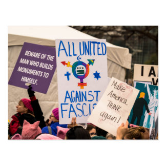 All United Against Fascism Postcard