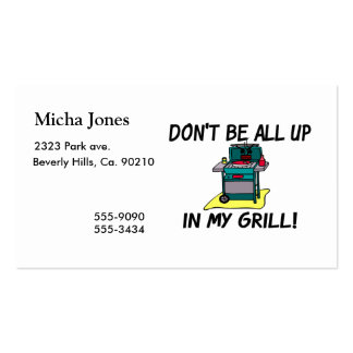 All Up In My Grill Business Card