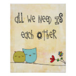 all we need is each other poster
