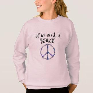 all we need is peace hip tye dye peace shirt