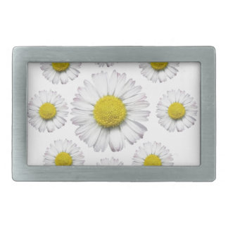 ALL WHITE SHASTA DAISY FLOWERS GIFTS BELT BUCKLE