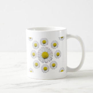 ALL WHITE SHASTA DAISY FLOWERS GIFTS COFFEE MUG