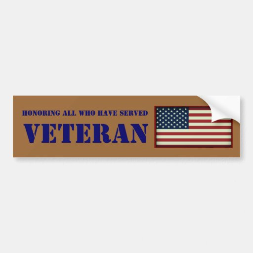 All Who Have Served Veteran Bumper Sticker