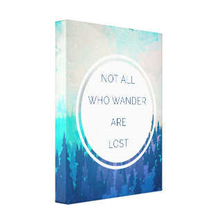 All Who Wander Travel Quote Canvas Print