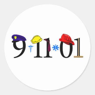 All who were lost 9-11-01 classic round sticker