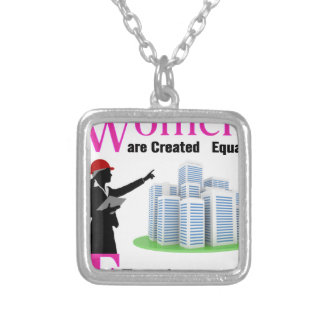All Women Are Created Equal Then a Few Become Engi Silver Plated Necklace