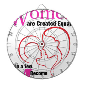 All Women Are Created Equal Then a Few Become Moth Dartboard With Darts