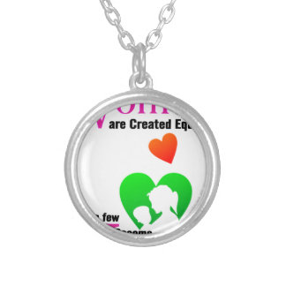 All Women Are Created Equal Then a Few Become Moth Silver Plated Necklace