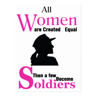 All Women Are Created Equal Then a Few Become Sold Postcard