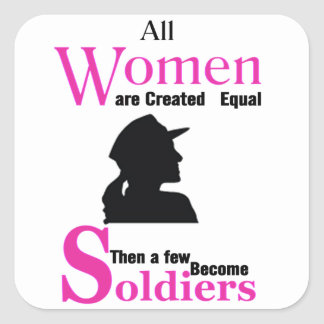 All Women Are Created Equal Then a Few Become Sold Square Sticker