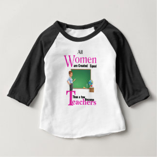 All Women Are Created Equal Then a Few Become Teac Baby T-Shirt