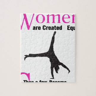All Women Are Created Equal Then a  GymnASTIC Jigsaw Puzzle
