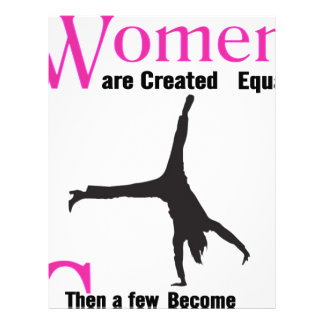 All Women Are Created Equal Then a  GymnASTIC Letterhead