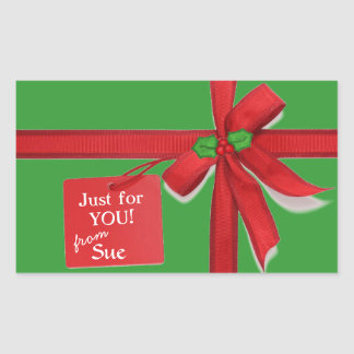 All Wrapped Up Custom Christmas Gift Tag Stickers