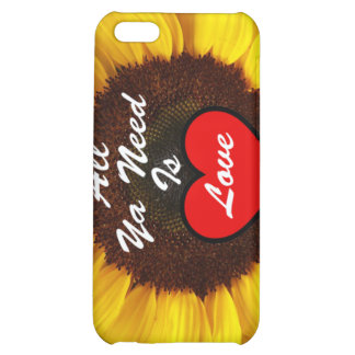 All Ya Need Is Love Summer Sunflower iPhone 4Case iPhone 5C Covers