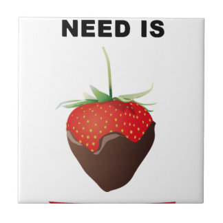 ALL YOU NEED IS CHOCOLATE TILE