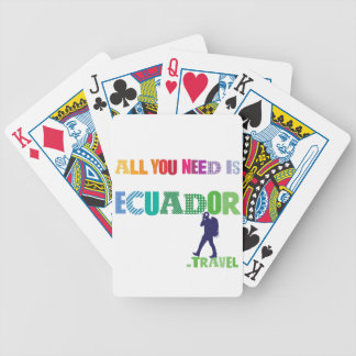 All You need Is Ecuador_Travel Bicycle Playing Cards