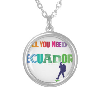 All You need Is Ecuador_Travel Silver Plated Necklace