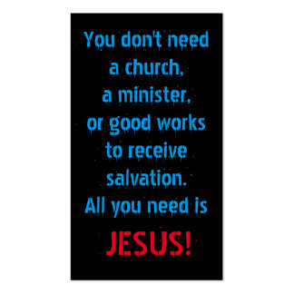 All You Need Is Jesus Pack Of Standard Business Cards