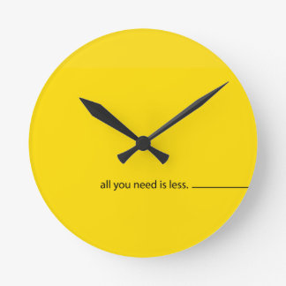 All you need is LESS:: Clock