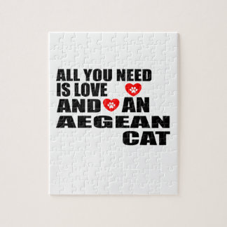 ALL YOU NEED IS LOVE AEGEAN CAT DESIGNS JIGSAW PUZZLE